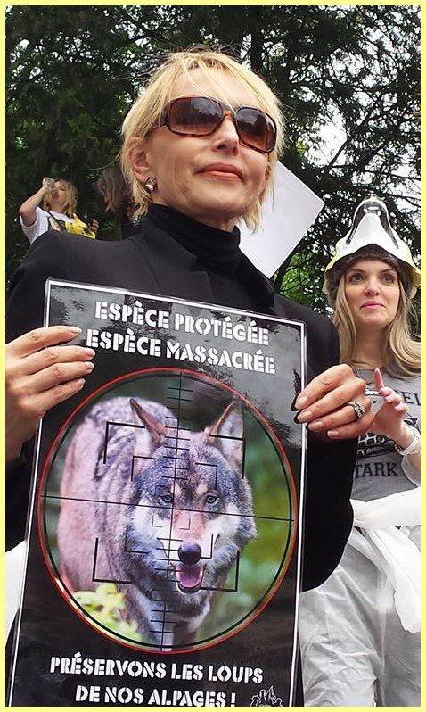 Jeanne mas a participé, ce samedi 03 juin à Paris, à LA MARCHE contre LES TIRS DE LOUPS et contre LA CHASSE