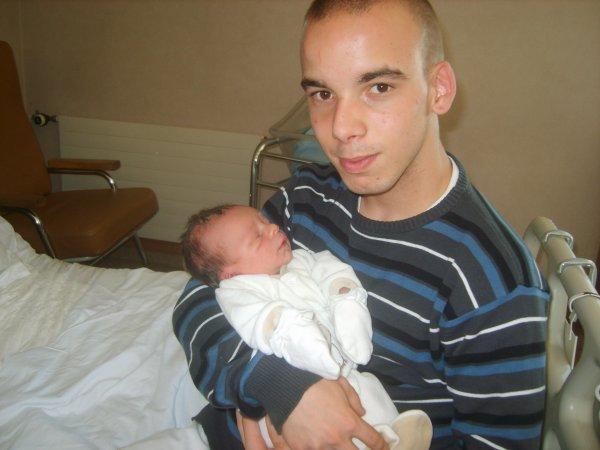 mon fils nathan et son papa