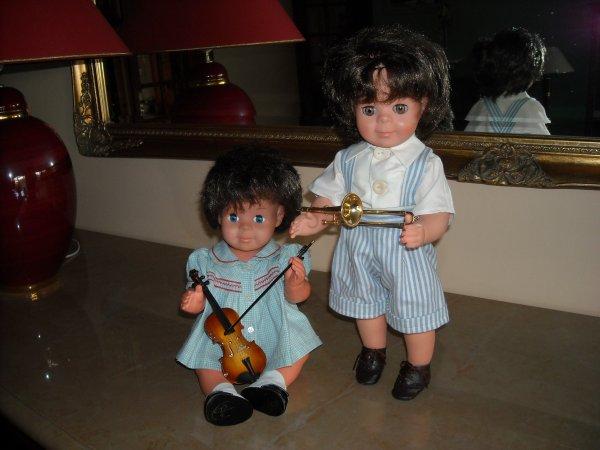 Michel et Jean-Michel nous interprêtent une petit morceau de musique