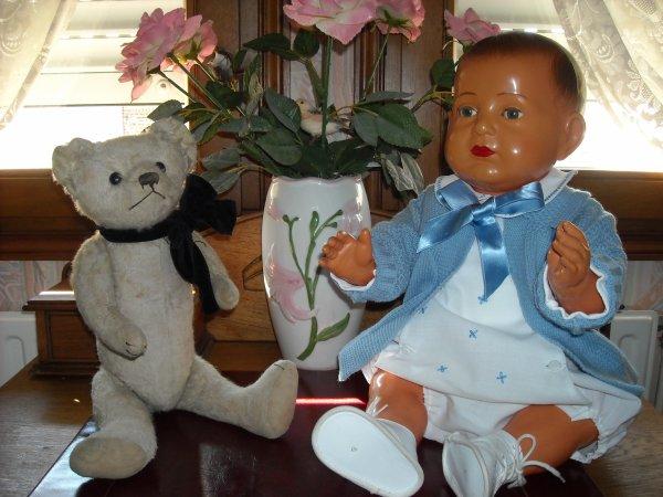 Trouvailles hier à la Bourse du Jouet ancien à Lomme : Ours Pintel et Jacky de 60 cms