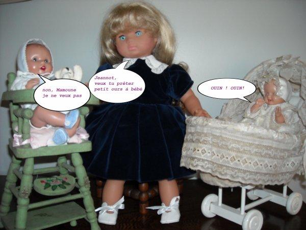 Petite Maman Cécile avec ses chérubins