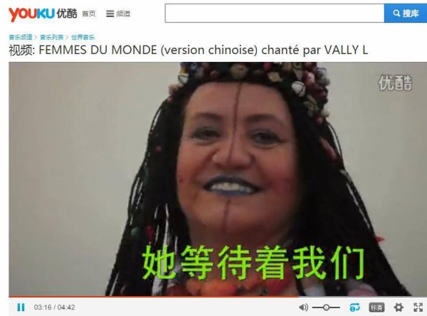 Femme du monde en chine