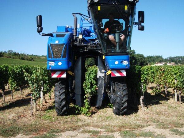machine a vendanger 9060l new holland braud
