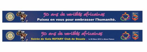 Banderoles Soirée de Gala : ROTARY