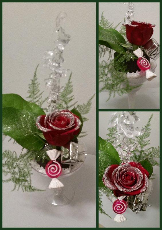 avec une rose !