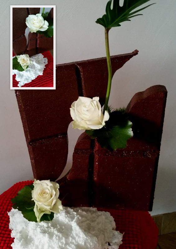 Fleurs , chocolat et chantilly !
