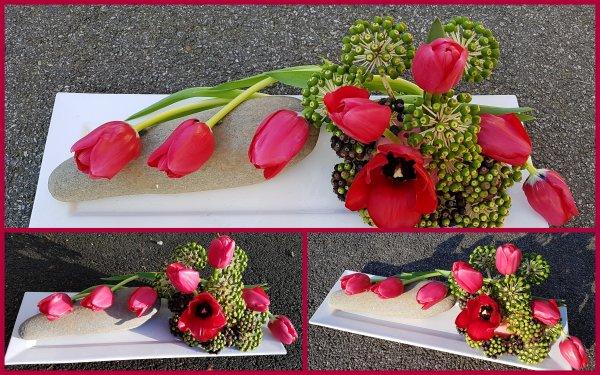 avec les mêmes tulipes !