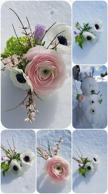 Dans la neige ....merci Nelly.