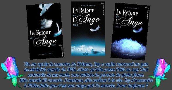 """trilogie """"Le retour de l'Ange"""" d'Elizabeth Chandler"""