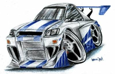dessin de nissan skyline nissan skyline de 2 fast 2 furious. Black Bedroom Furniture Sets. Home Design Ideas