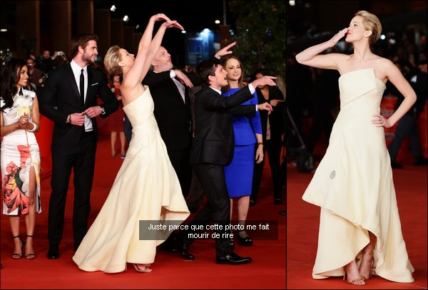 .   14/11/2013 :  Jennifer était à un photocall pour Hunger Games puis à la conférence de presse   .