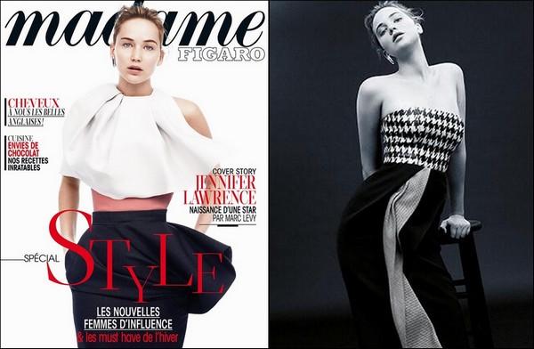 . Jennifer en couverture du magazine Madame Figaro du mois de décembre 2013.
