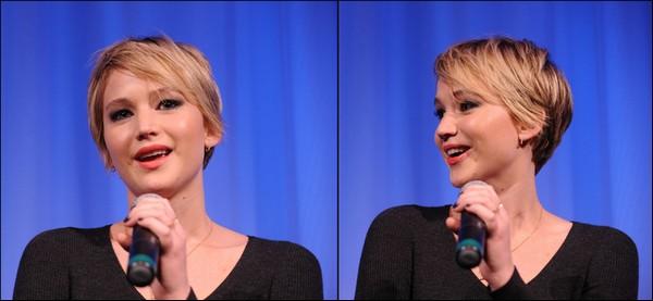 .   07/12/2013 :  Jennifer était présente au Motion Picture Arts and Sciences Official Academy pour un screening du film American Hustle, accompagné de ses co-stars  .