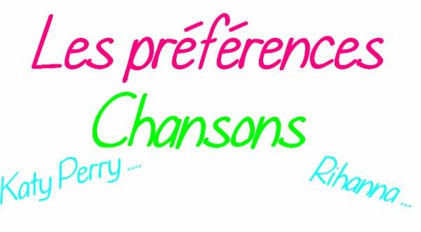 Les préférences ( chansons)
