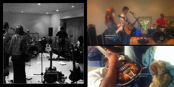 Photo du twitter de Leighton et coup de coeur énorme pour cette photo de Nina & Ian   Que penses-tu de sa tenue ? Aimes-tu les musiques de Lei'?