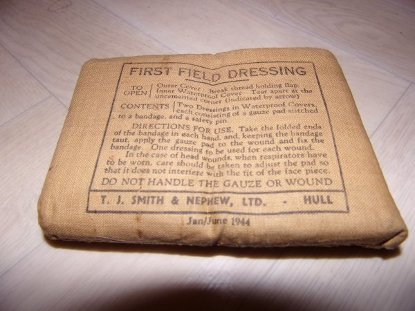 First field dressing.