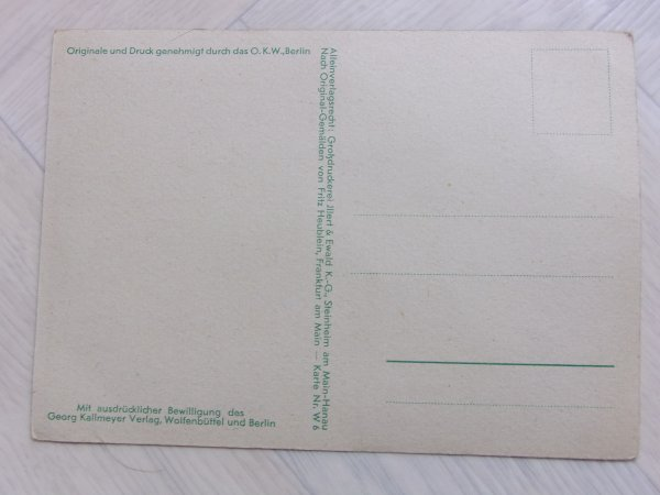 Carte postale allemande ww2.