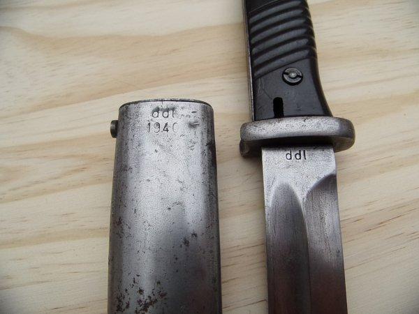 Baïonnette de Mauser 98k WW2.