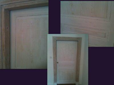 Ma porte en effet faux bois !