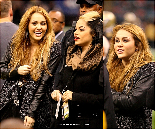 12 décembre 2010 : Miley s'est rendu au Saints Game à Nouvelle-Orléans (Louisiane).