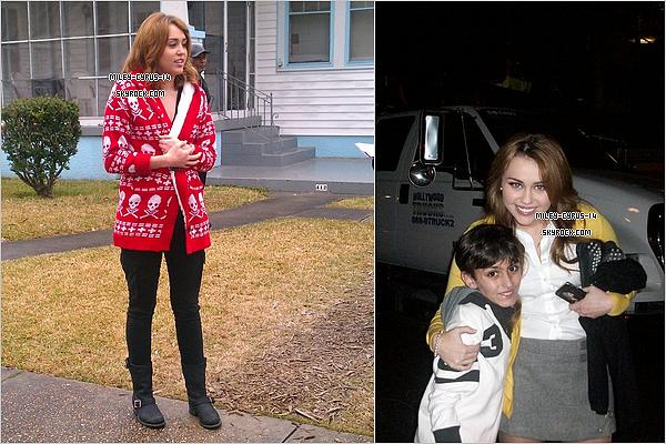 30/01/11 : Sur le Set de So undercover                                                   29/01/11 : Miley posant avec un petit  fan