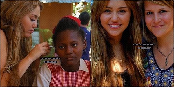 24 fevrier 2011 : Miley à Haiti.