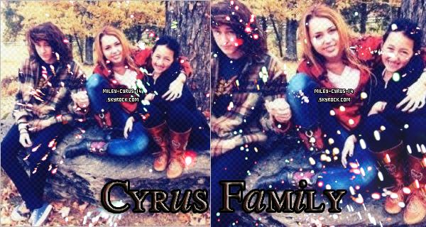 Pas de news mais decouvrez une photo de Miley avec son frêre , Braison et sa soeur, Noah.