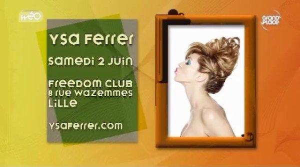 Ysa Ferrer et Self Concept sur la chaîne TNT du Nord/Pas de Calais Wéo