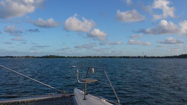 Toujours sur le catamaran xD