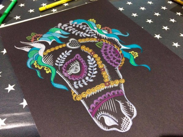 A mes crayons...