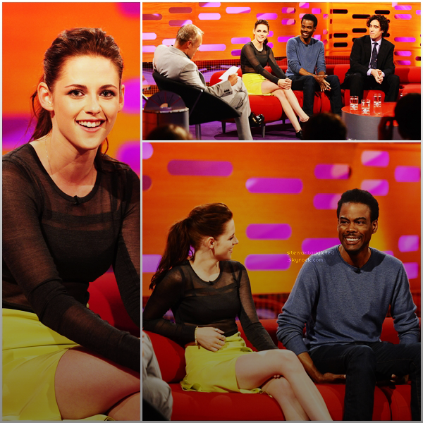 11.05.12: Kristen était au Graham Norton Show pour la promo de Snow White And The Huntsman .