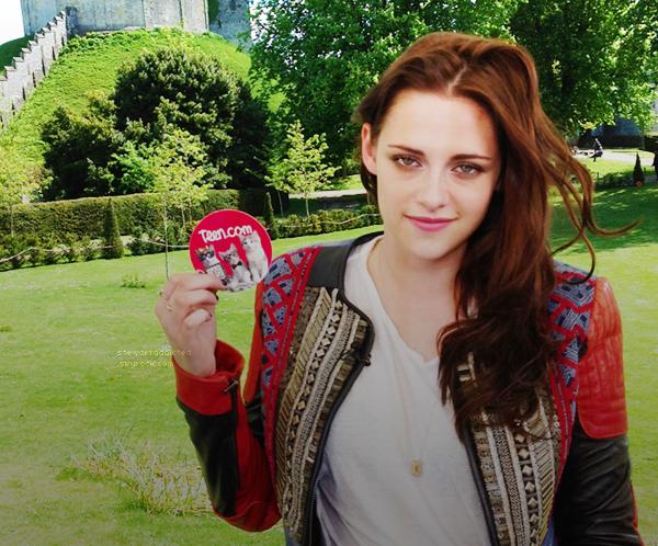 12.05.12 : Kristen et des journalistes pour le 2ème jour de la press junket pour SWATH à Londres.