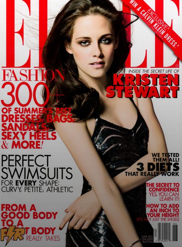 Kristen en couverture du magazine ELLE us pour le mois de Juin 2012. J'adore ce shoting de kristen , il me fait penser a ce-lui de Robert.P