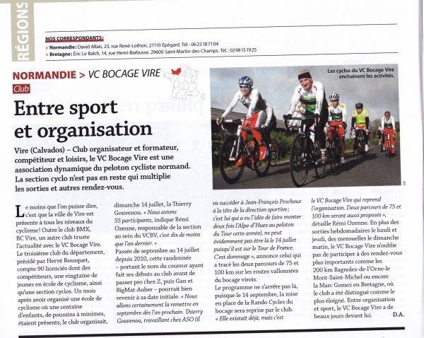 Magazine le cycle - Septembre 2013