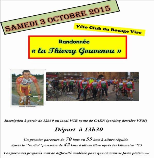 Rando Thierry Gouvenou  - 3 Octobre 2015