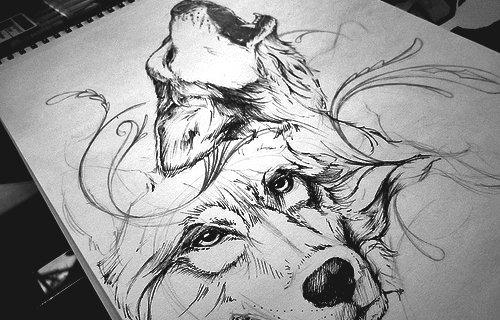 Articles De Lov3ly Tattoo Tagges Loup Tatouage Skyrock Com
