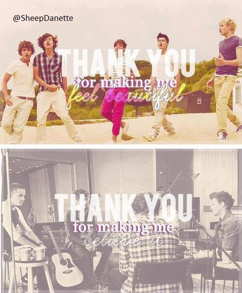 THANK YOU ONE DIRECTION