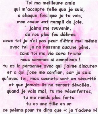 Poeme Pour Ma Meilleur Copine Blog De Porion59
