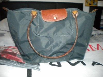 Sac Longchamp Modele Shopping (les taches sont dues a l'appareil photo)
