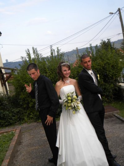 moi avec la couzine qui se marie