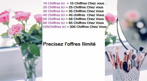 Offres-Chiffres ilimite