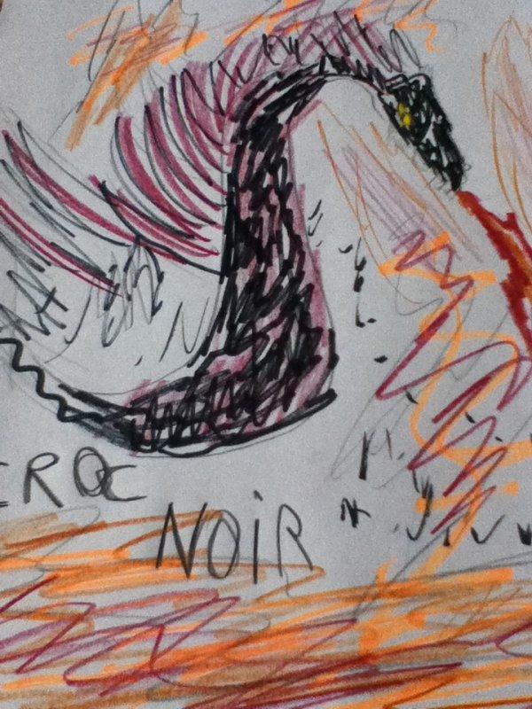 Voici croc noir le monstre qui poursuit wendy !