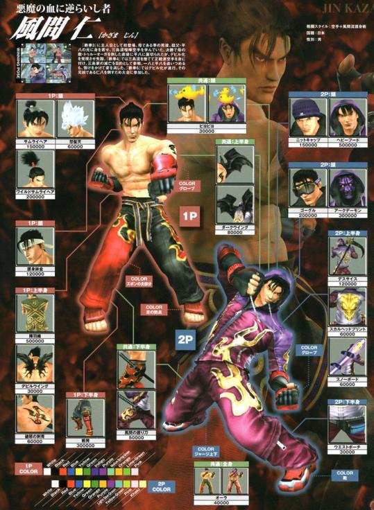 Jin Kazama Tekken 5 Dark Ressurection Online Customization