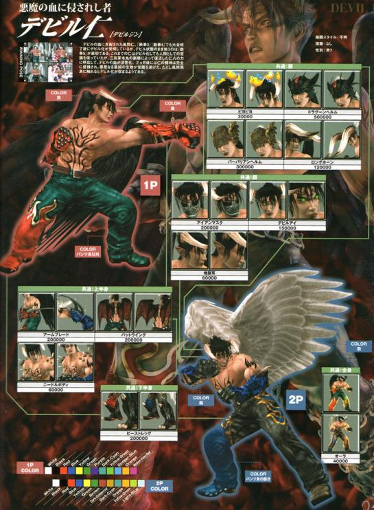 Devil Jin Tekken 5 Dark Ressurection Online Customization