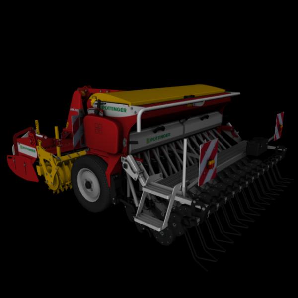 Semoir et herse rotative pottinger pour Farming simulator 2011 réalité ou simulation le réalisme de se mods est époustouflan maleureusement je n'est pas le lien de DL