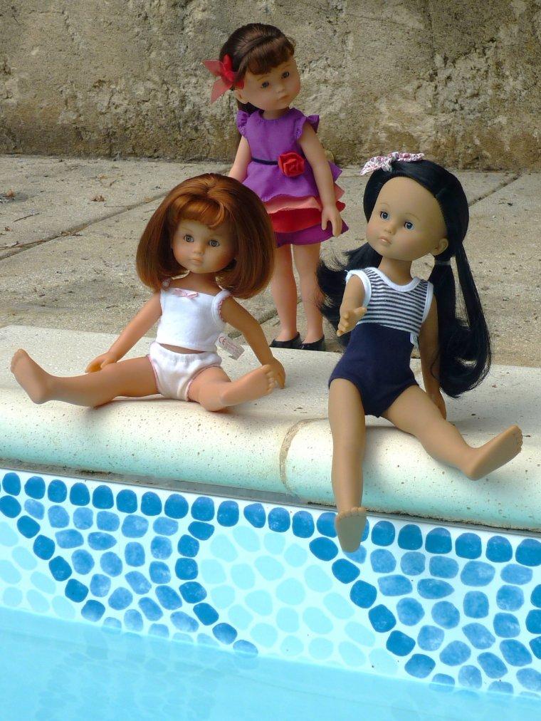 Chéries à la piscine