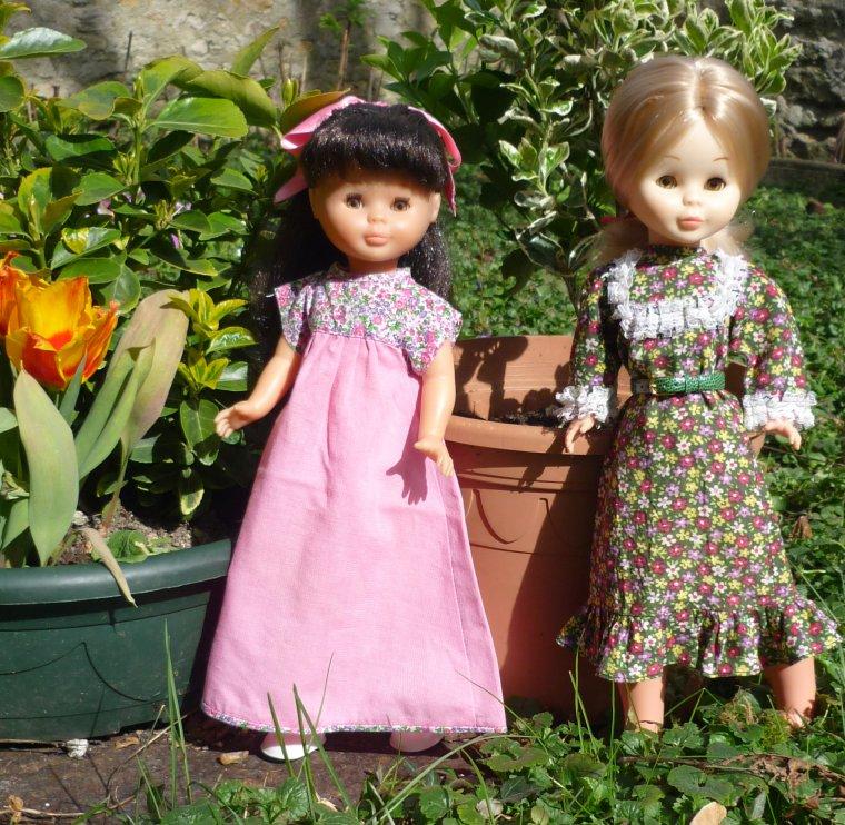 1972 - Vestido Maxi et 1981 - Primavera rosa