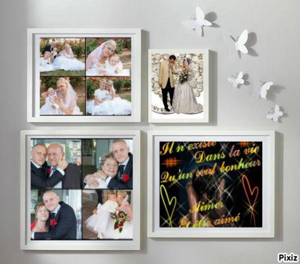 de la part de Loulou elle m'a fait des montages de photos de mariage merci te fais un gros bisou