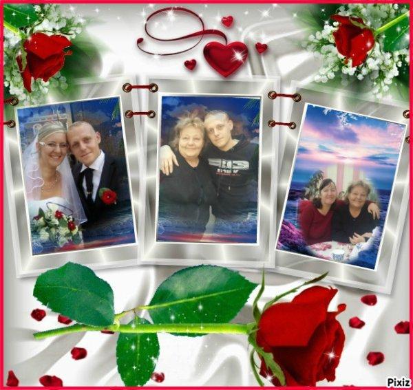 c'est ma belle-mère avec son garçon sa belle-fille et Émilie et Gloriane▲ ★ ▲ ★