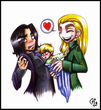 Severus, Draco, Lucius